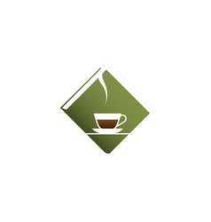 green book and coffee vector image