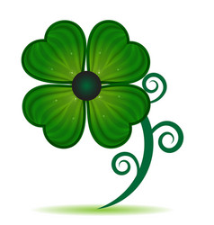 green clover leaf isolated icon vector image