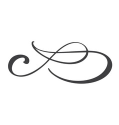 hand drawn flourish separator calligraphy elements vector image