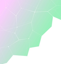 Hipster gradient crystal structure background vector image