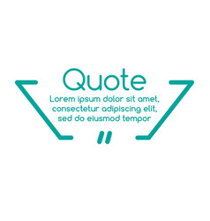 innovative quotation template in quotes creative vector image