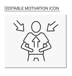 Intrinsic motivation line icon vector