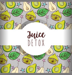 juice detox background vector image