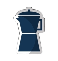 kettle appliance isolated icon vector image