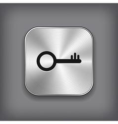 Key icon - metal app button vector image