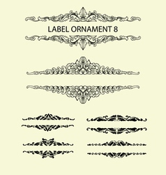 Label ornament 8 vector image