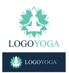 Logo for yoga or wellness center vector