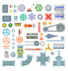 machinery parts set vector image