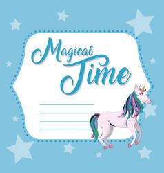 Magical time cute card vector