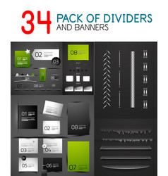 mega collection of paper banners and dividers vector image