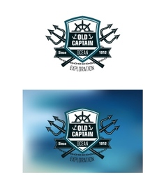 Nautical badges for Ocean Exploration vector image