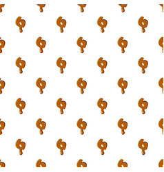 Number 6 from caramel pattern vector