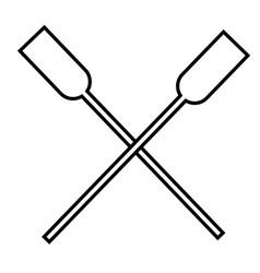 Oars icon vector