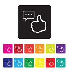 Online feedback icon set vector