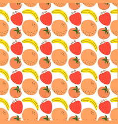 pattern with element fruits seamless pattern vector image