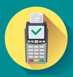 Payment machine and credit card terminal icon vector