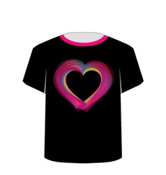 Printable tshirt graphic- Valentine Hearts vector image