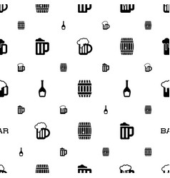 pub icons pattern seamless white background vector image