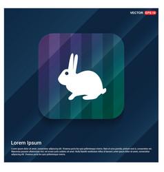 rabbit icon vector image