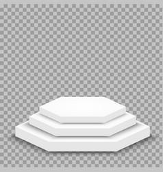 Realistic pedestal or podium concept vector