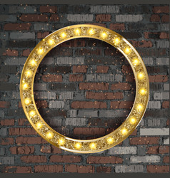 round frame with light bulbs vector image