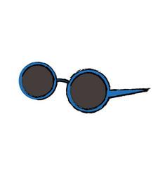 round sunglasses accessory female style vector image