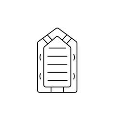rubber boat icon vector image