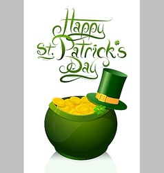 Saint Patricks Day greeting card design vector image
