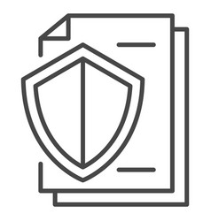 secured paper icon outline style vector image