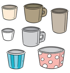 set of paper cup vector image