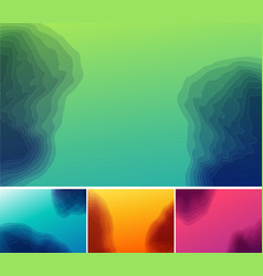 Set of three banners abstract headers with step vector