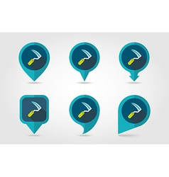 Sickles flat pin map icon vector image