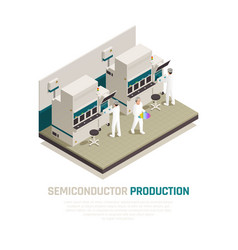 Silicon factory isometric background vector