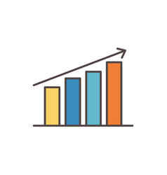 statistics diagram social media icon vector image