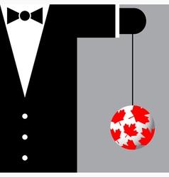 Suit with symbols canada vector