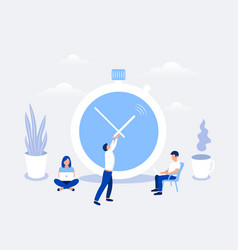 time management and deadline design concept vector image