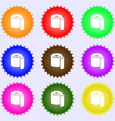 Toilet paper icon sign Big set of colorful diverse vector