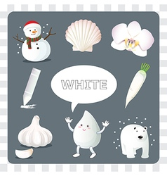 White color on gray Background vector image