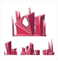 Win Color Rock Elements Set vector