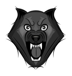 wolf growls vector image