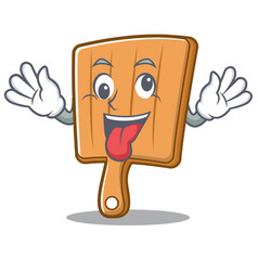 crazy kitchen board character cartoon vector image vector image
