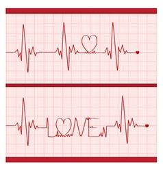 Love Cardiogram vector image vector image