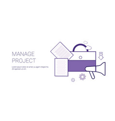 manage project business concept template web vector image vector image