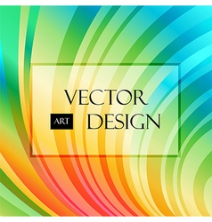 Multicolored striped curved background vector image
