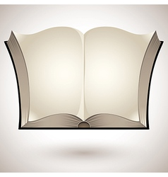 Open book with blank pages vector image