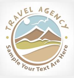 travel logo pastel vector image vector image