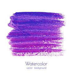 Violet purple lilac grunge watercolor vector