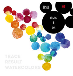 background watercolor circles vector image