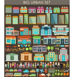 Big urban set vector image vector image