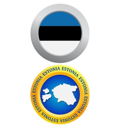 button as a symbol ESTONIA vector image vector image